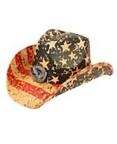 ecf13046 Angela & William American Flag Cowboy Hat