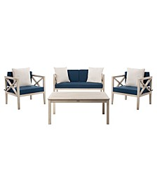 Nunzio 4Pc Outdoor Seating Set with Pillows