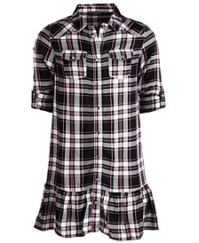 Big Girls Ruffled Plaid Shirtdress