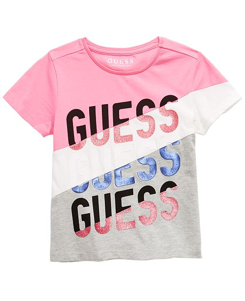 GUESS Big Girls Embellished Colorblocked T-Shirt