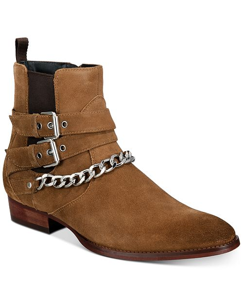 INC International Concepts INC Dusty Buckle-Chain Boots, Created for Macy's