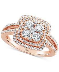 Vanilla Diamonds® Statement Ring (1-1/20 ct. t.w.) in 14k Rose Gold