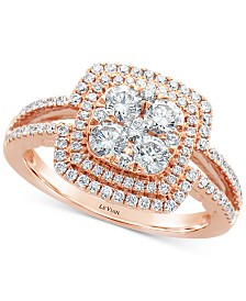 Le Vian® Vanilla Diamonds® Statement Ring (1-1/20 ct. t.w.) in 14k Rose Gold