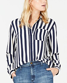 Michael Michael Kors Striped Oversized Shirt
