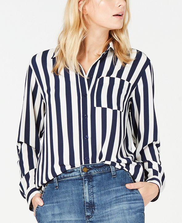 Michael Kors Striped Oversized Shirt