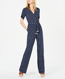 Michael Michael Kors Foulard Belted Jumpsuit, Regular & Petite Sizes