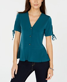 Michael Michael Kors Peplum Top, Regular & Petite