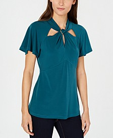 Twist-Neck Blouse
