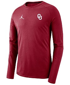 Jordan Men's Oklahoma Sooners Alpha Dry Long Sleeve T-Shirt