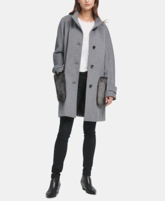 Faux-Fur-Pocket Walker Coat