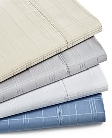 Windowpane Cotton 550-Thread Count 4-Pc. Sheet Set Collection, Created for Macy's