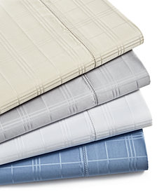 Charter Club Damask Windowpane Cotton 550-Thread Count 4-Pc. Sheet Set Collection, Created for Macy's