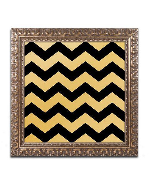 """Trademark Global Color Bakery 'Xmas Chevron 5' Ornate Framed Art - 16"""" x 16"""""""