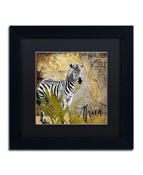"Trademark Global Color Bakery 'Taste Of Africa IV' Matted Framed Art - 11"" x 11"""