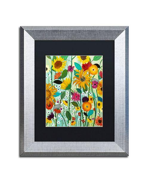 """Trademark Global Carrie Schmitt 'Sunflower House' Matted Framed Art - 11"""" x 14"""""""