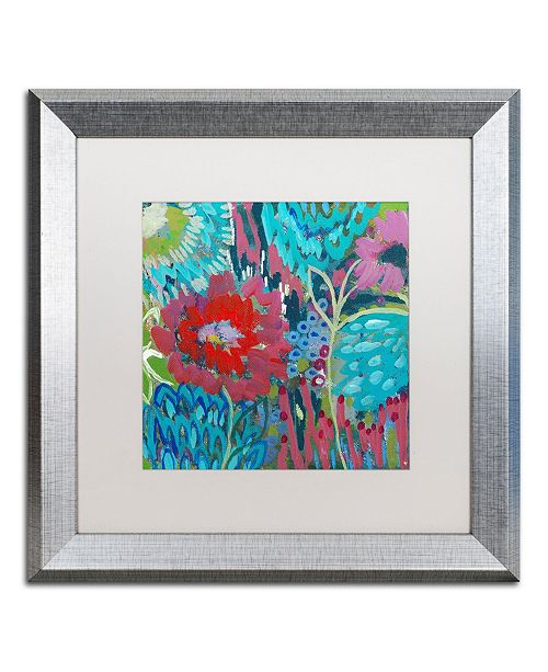 "Trademark Global Carrie Schmitt 'Shanti' Matted Framed Art - 16"" x 16"""