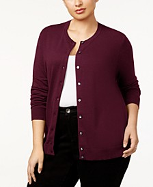 Plus Size Cardigan, Created for Macy's