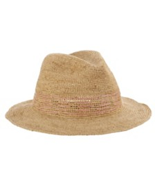 Callanan Raffia Contrast Stitch Safari Hat