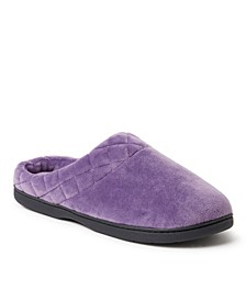 Women's Microfiber Velour Clog Slippers, Online Only