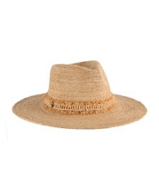 Raffia Safari Hat with Fringe Band