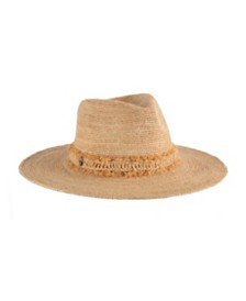 Tommy Bahama Raffia Safari Hat with Fringe Band