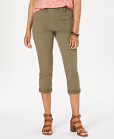 Style & Co Petite Utility Pocket Capri Pants, Created for Macy's