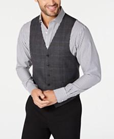Lauren Ralph Lauren Men's Classic-Fit Dark Gray Glen Plaid Wool Vest