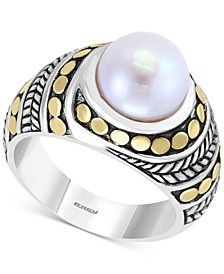 EFFY® Cultured Freshwater Pearl (9mm) Ring in Sterling Silver & 18k Gold-Plate