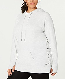 Plus Size Lace-Up Hoodie, Created for Macy's