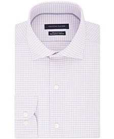 Men's Classic/Regular Fit Non-Iron THFlex Supima® Stretch Check Dress Shirt