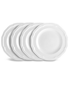 Dinnerware, Set of 4 Antique White Bread and Butter Plates