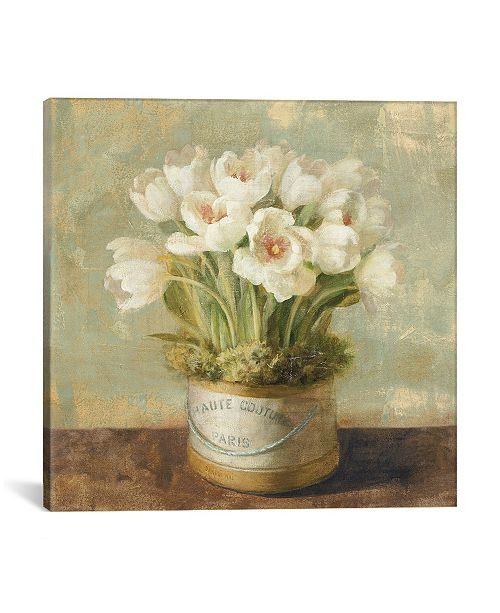 "iCanvas Hatbox Tulips by Danhui Nai Gallery-Wrapped Canvas Print - 26"" x 26"" x 0.75"""
