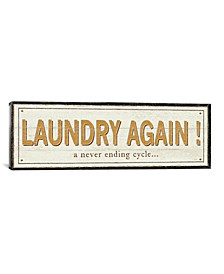 "Laundry Again! by Pela Studio Gallery-Wrapped Canvas Print - 16"" x 48"" x 0.75"""