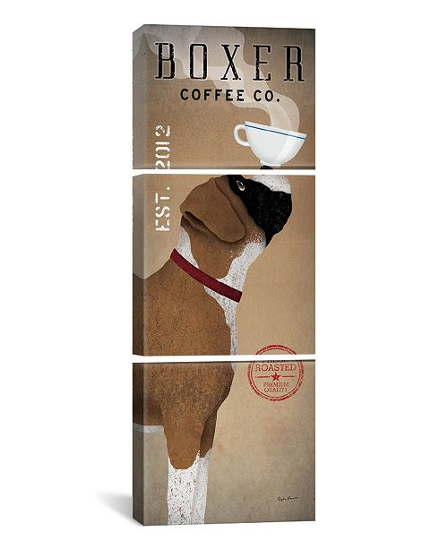"iCanvas Boxer Coffee Co. by Ryan Fowler Gallery-Wrapped Canvas Print - 60"" x 20"" x 1.5"""