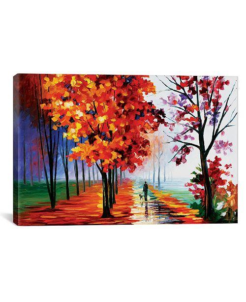 """iCanvas Lilac Fog by Leonid Afremov Gallery-Wrapped Canvas Print - 26"""" x 40"""" x 0.75"""""""