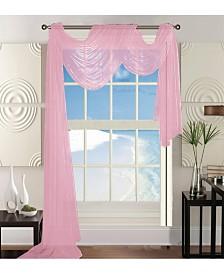 "Elegant Comfort Beautiful Window Panel Curtain Sheer Voile Scarf 55"" x 216"""