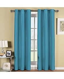 "Triple Layer Thermal Insulated Blackout Grommet Window Panel Set - Set of 2 - 54"" x 84"" Each"