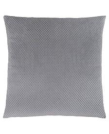 "Monarch Specialties 18"" x 18"" Diamond Velvet Pillow"