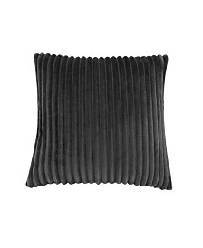 """Monarch Specialties 18"""" x 18"""" Ultra Soft Ribbed Style Pillow"""
