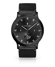 Lilienthal Berlin L1 All Black Leather Watch 37mm
