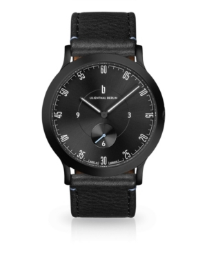 L1 All Black Leather Watch 37mm