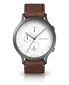 Chronograph with Brown Leather Watch 42mm