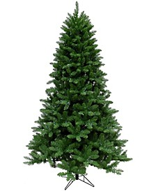 6.5'. Greenland Pine Artificial Christmas Tree with Clear LED String Lighting