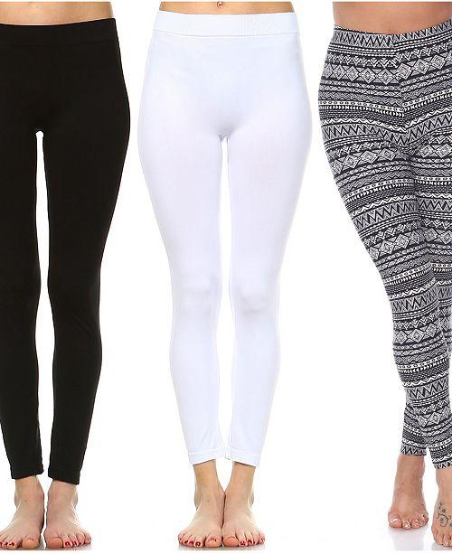 White Mark Pack of 3 Leggings