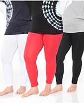6435bcab9 White Mark Pack of 3 Women's Plus Size Legging (One Size Fits Most)