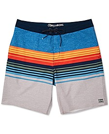 """Men's Spinner Striped 19"""" Swim Trunks"""
