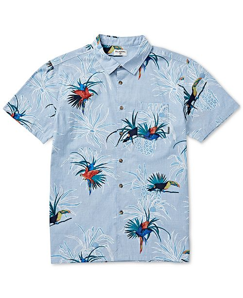 Billabong Men's Sundays Regular-Fit Tropical-Print Shirt