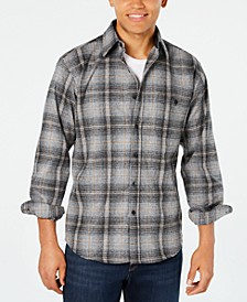 Men's Trail Plaid Wool Shirt with Suede Elbow Patches