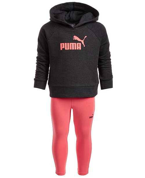 Puma Little Girls 2-Pc. Fleece Hoodie & Leggings Set