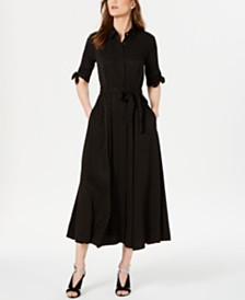 Calvin Klein Tonal Dot Maxi Shirtdress